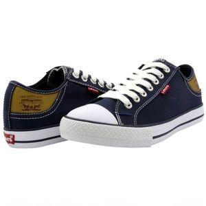 Levi's Stan Buck Low Top Canvas Sneaker Navy 8